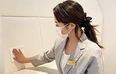 静岡県浜松市でPARTY☆PARTY浜松ラウンジの新型コロナウイルス感染症予防対策備品の消毒