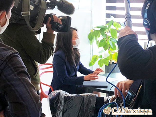 中京テレビ「キャッチ!」よりリモート婚活の取材をお受けしました。